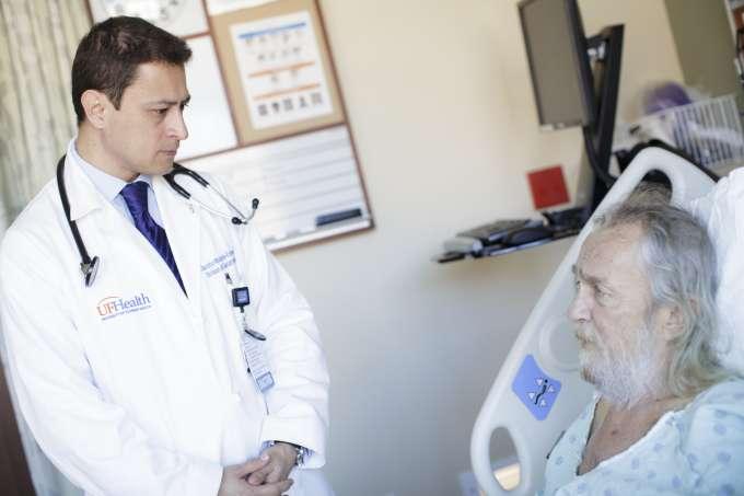 Dr Hincapie with patient