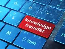 KnowledgeTransfer on keyboard graphic