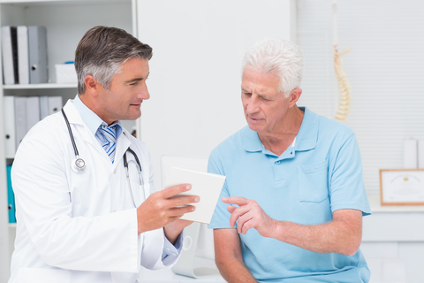 stockphoto of medical doctor and patient discussion