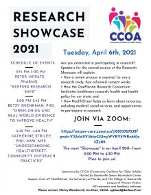 FLyer for Research Event